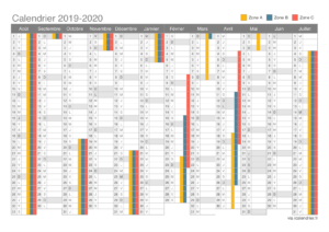 2020 Calendrier Excel Vacances Scolaires