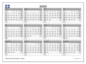 Calendrier Liturgique 2020 PDF