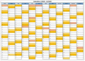 Calendrier 2020 Canada PDF
