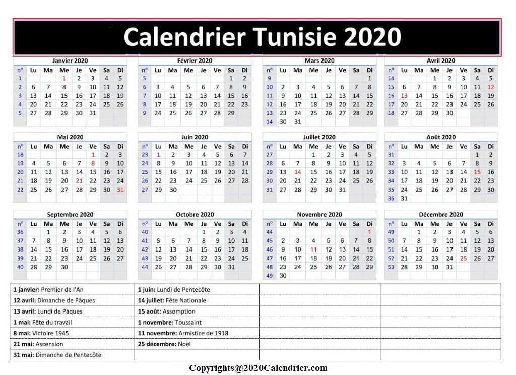 Calendrier Vaccinal Tunisie 2020 Imprimable