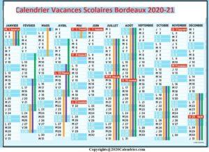 2020 CalendrierVacancesScolairesBordeaux