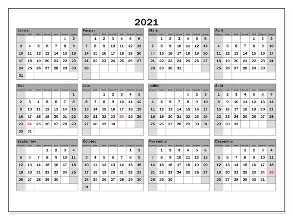 2021 Calendrier Tunisie Avec Jours Feries