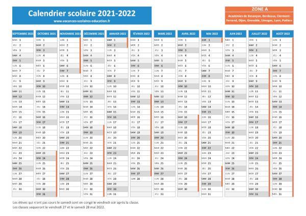Besancon Scolaires Vacances 2021