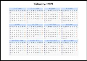 Canada Calendrier 2021 PDF
