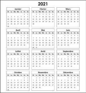 2021 Maroc Calendrier