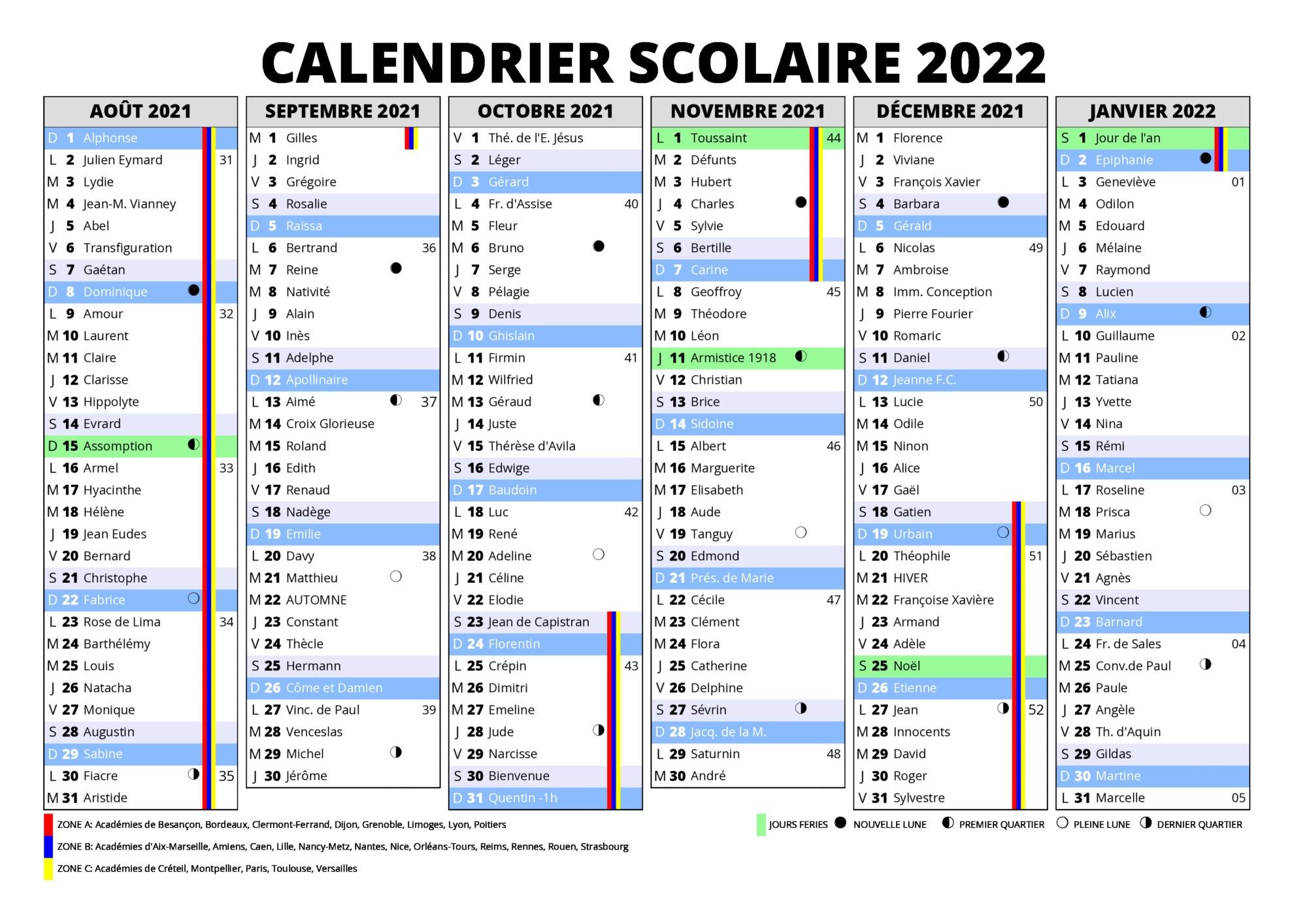 Calendrier Can 2022 Pdf Bordeaux Calendrier 2021 2022 Vacances Scolaires [PDF] | 2021